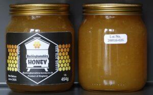Crystallised ginger infused natural set honey jar