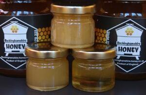 Our range of natural honey with Natural set, Soft set and runny taster jars